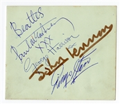 The Beatles 1963 Signed Album Page JSA, Caiazzo