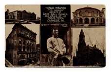 1910 Pittsburgh Gazette Honus Wagner Postcard