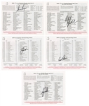Tiger Woods Arnold Palmer Jack Nicklaus Gary Player Phil Mickelson Signed Masters Card Lot