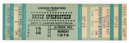 Bruce Springsteen Original 1978 Darkness on the Edge of Town Tour Unused Full Concert Ticket