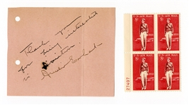 Amelia Earhart Signed Note Page JSA