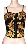 "Miley Cyrus ""Hannah Montana"" Screen Worn Black Bustier with Orange Flowers"