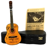 The Eagles Band Signed Limited Edition Miniature Guitar