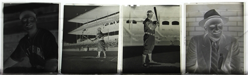 Original Group of Negatives Including Honus Wagner, Paul Waner, Ralph Kiner, Stan Coveleski