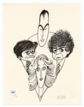 Al Hirschfeld Signed Limited Edition United Nations Postal Administration Print JSA