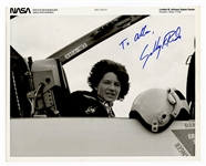 Sally Ride Signed and Inscribed Photograph JSA