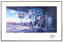 "Jeff Beck Signed ""Becks Guitar Show"" Original Lithographic Print"