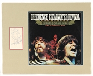 Creedence Clearwater Revival Band Signed Display