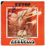 "ZZ Top Billy Gibbons Band Signed ""Degüello"" Album JSA"