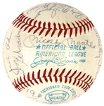 1972 Yankee Team Signed Baseball with Mickey Mantle and Thurman Munson