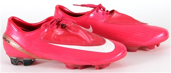 Cristiano Ronaldo Game Worn Pink Manchester United Cleats