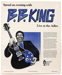 B.B. King Live at the Adler Original Concert Poster