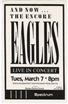 Eagles Original Spectrum Concert Poster