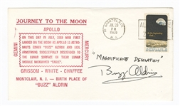 Buzz Aldrin Signed Apollo First Day Cover JSA