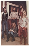 Fleetwood Mac Original Promotional Picture Card with Facsimile Signatures