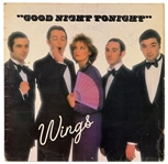 "Paul McCartney and The Wings Twice-Signed ""Goodnight Tonight"" 12-Inch Single JSA & Frank Caiazzo Authenticated"