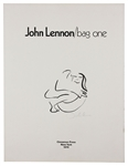 "The Beatles John Lennon Signed ""Bag One"" ""Frontispiece"" Lithograph JSA"