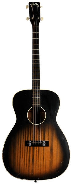 "Elvis Presley ""Frankie and Johnny"" Film Used and Personally Owned Harmony Stella Tenor Guitar"