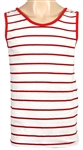 Tom Petty Owned & Worn Red and White Striped Tank Top