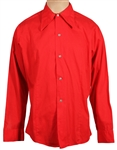 Tom Petty Owned & Worn Red Long-Sleeved Button Down Shirt
