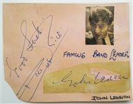 The Beatles John Lennon Signed Cut Frank Caiazzo Authenticated