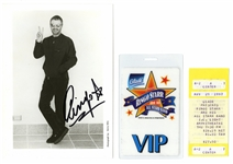 Ringo Starr Signed Photograph with a Backstage Pass and Ticket Stub