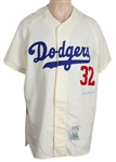 Sandy Koufax Signed Brooklyn Dodgers Rookie Cooperstown Replica Jersey