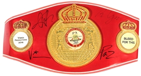 """Bleed For This"" Movie Presentation Cast Signed Belt"