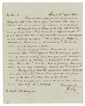 Henry Clay Important 1844 Presidential Campaign Handwritten Signed Letter JSA