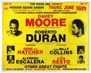 Roberto Duran vs. Davey Moore 1983 MSG On-Site Championship Fight Poster