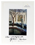 President George Bush and First Lady Laura Bush Signed 2007 White House Holiday Card