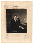 "Piece Egan Author of ""Boxiana"" Signed Engraved Portrait (Only Known Example)"