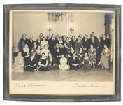 Eleanor and Franklin D. Roosevelt Signed White House Staff Photograph JSA