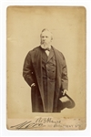 Rutherford B Hayes Signed Cabinet Card JSA