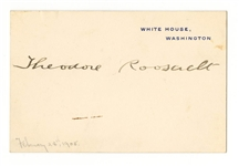 Theodore Roosevelt Signed Cut