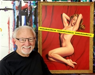 Greg Hildebrandt Signed Original Marilyn Monroe: Red Velvet #2 Painting