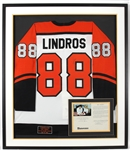 Eric Lindros 1993 Signed Limited Edition Rookie Hockey Jersey Display